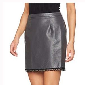 MinkPink Mon Cherie faux leather mini skirt small